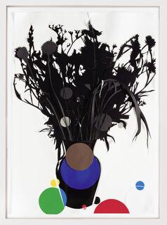 """Bild """"Blumen Schwarz"""" (2020) (Unikat)"""