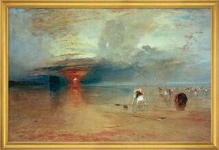 """Bild """"Strand von Calais"""" (1830), gerahmt"""