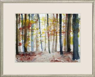 """Bild """"Leuchtender Herbstwald"""" (2014) (Unikat)"""