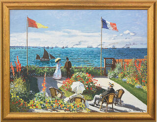 """Bild """"Garten in Sainte-Adresse"""" (1867), gerahmt"""