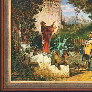"""Bild """"Jugendfreunde"""" (um 1855), gerahmt"""