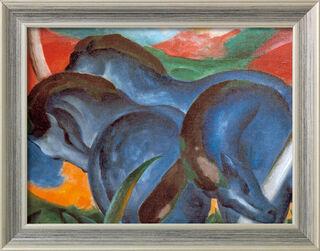 """Bild """"Die großen blauen Pferde"""" (1911), gerahmt"""