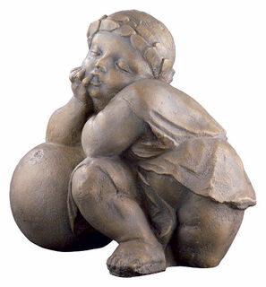 "Replikat ""Putte aus der Fuggerkapelle III"" (um 1530), Kunststein Antikfinish"
