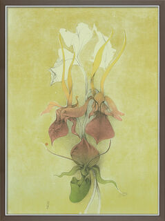 "Bild ""Frauenschuh"" (1989), gerahmt"