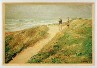 "Bild ""Düne und Meer"" (1909), gerahmt"