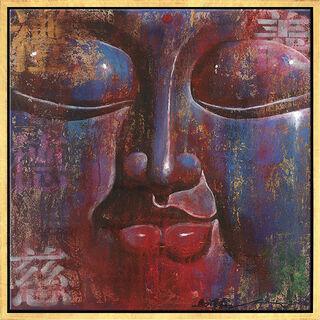"""Bild """"Kleiner Buddha, blau"""", gerahmt"""