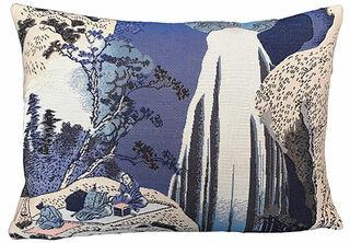 """Kissenhülle """"Der Amida-Wasserfall in der Provinz Kiso"""""""