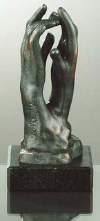"""Skulptur """"Die Kathedrale"""" (Étude pour le secret""""), Kunstbronze"""