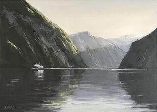 "Bild ""Fjord"" (2019) (Unikat)"