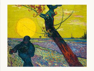 """Bild """"Sämann bei untergehender Sonne"""" (1888), ungerahmt"""