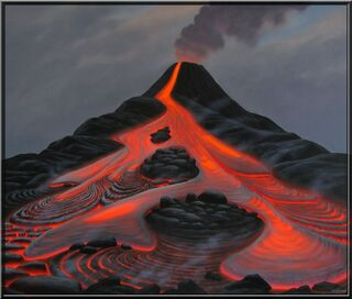"Bild ""Vulkan V"" (2009) (Original / Unikat), gerahmt"