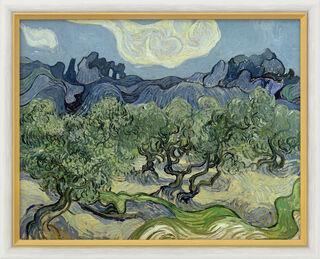 "Bild ""Olivenbäume mit Les Alpilles"" (1889), gerahmt"
