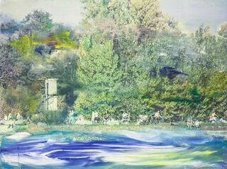 "Bild ""Sonnenbad (Am Rheinufer)"" (2020) (Unikat)"