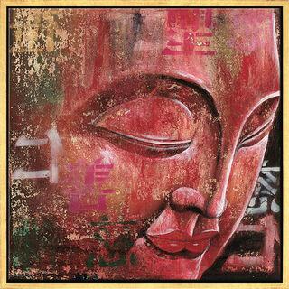 """Bild """"Kleiner Buddha, rot"""", gerahmt"""