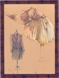 "Bild ""Ballerina e manichino"", gerahmt"