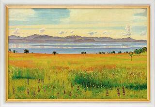 """Bild """"Der Genfersee von Saint-Prex aus"""" (1901), gerahmt"""