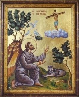 Vita-Ikone des Heiligen Franz von Assisi