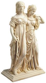 "Skulptur ""Luise und Friederike"" (Originalgröße), Kunstmarmor"