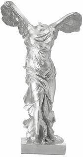 "Skulptur ""Nike von Samothrake"", Kunstguss silber"