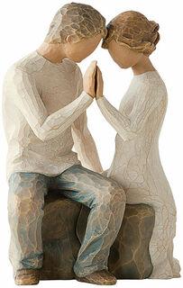 "Skulptur ""Around You"", Kunstguss handbemalt"