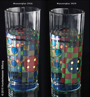 (Set C) 2 Regentag-Wassergläser mit Buch (ohne Karaffe)