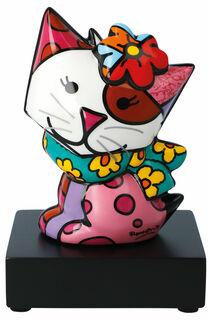 """Porzellanskulptur """"Katze Flowing"""""""