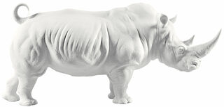 "Porzellanskulptur ""Nashorn"" - Design Ernest Massuet"