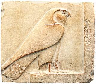 "Ägyptisches Sandstein-Relief ""Horus-Falke"""