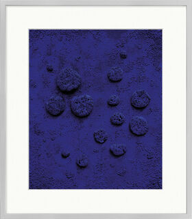 "Bild ""Blaues Schwammrelief"", gerahmt"
