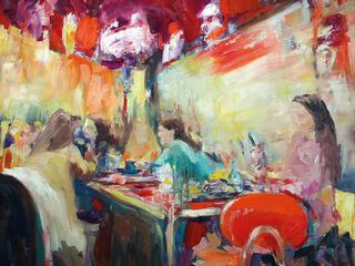 "Bild ""Cafe latte"" (2020) (Original / Unikat), auf Keilrahmen"