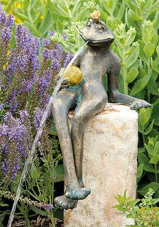 """Gartenskulptur / Wasserspeier """"Kurt"""" (ohne Stein), Bronze"""