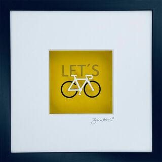 """3D-Bild """"Let's go cycling"""" (2020), gerahmt"""