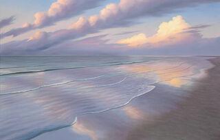 """Bild """"Abendlicher Strand III"""", auf Keilrahmen"""