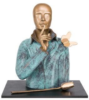 "Skulptur ""Silence"", Bronze"