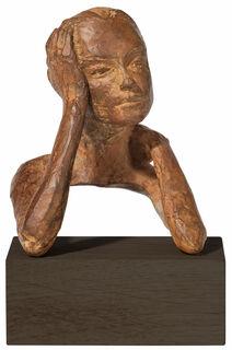 "Skulptur ""Besonnenheit"", Bronze"