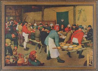 """Bild """"Bauernhochzeit"""" (1568), gerahmt"""
