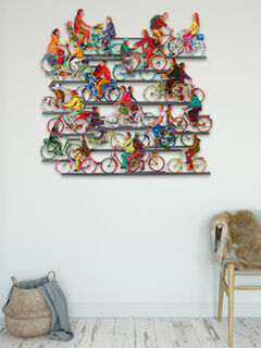 "3D-Wandskulptur ""City on wheels"" (2016), Aluminium"