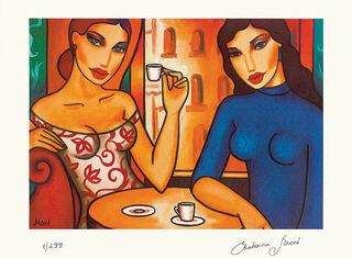 """Bild """"Zwei Frauen im Café"""", ungerahmt"""