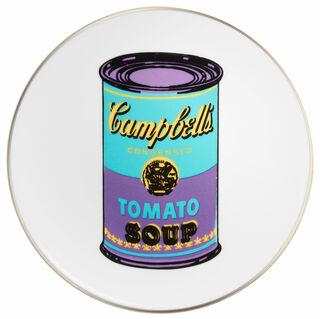 "Porzellanteller ""Coloured Campbells Soup Can"" (Türkis/Lila)"