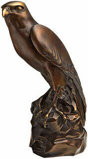 """Skulptur """"Falke"""", Version in Kunstbronze"""