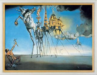 """Bild """"Die Versuchung des Heiligen Antonius"""" (1946), gerahmt"""