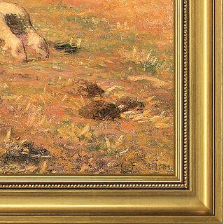 """Bild """"Die Heuhaufen, Herbst"""" (ca. 1874), gerahmt"""