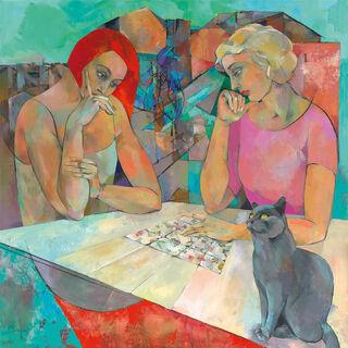 """Bild """"Kartenlegerin"""", auf Keilrahmen"""