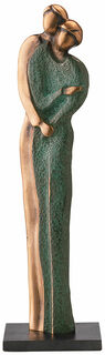"""Skulptur """"Zusammen glücklich sein"""", Bronze"""