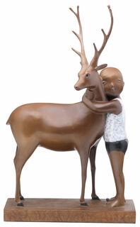 """Skulptur """"Best friends"""" (2016), Bronze"""