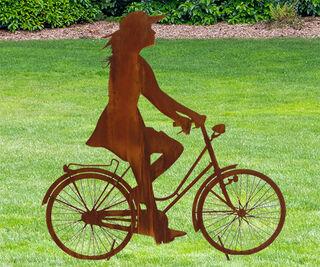 """Standfigur """"Sofie mit Fahrrad"""""""