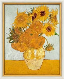 """Bild """"Zwölf Sonnenblumen in einer Vase"""" (1888), gerahmt"""