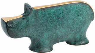 """Skulptur """"Nilpferd"""", Bronze"""