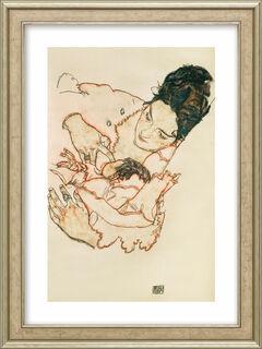 """Bild """"Stillende Mutter (Stephanie Grunewald)"""" (1917), gerahmt"""