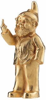 "Skulptur ""Sponti-Zwerg"", Version vergoldet"